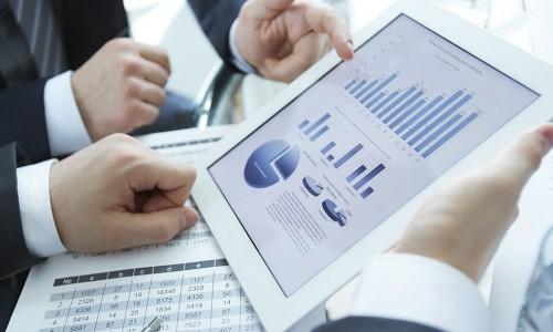 Financials on an iPad
